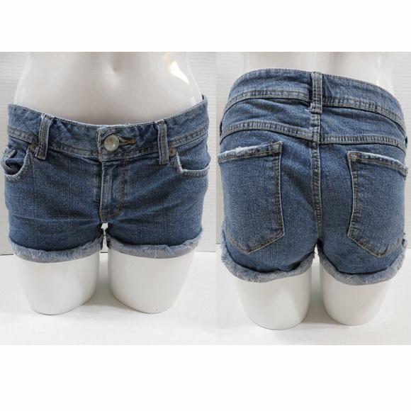 Fragile Pants - Fragile shorts 5 denim jean distressed cuffed fray